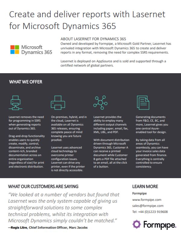 Formpipe and Microsoft co-branded Lasernet overview available now!
