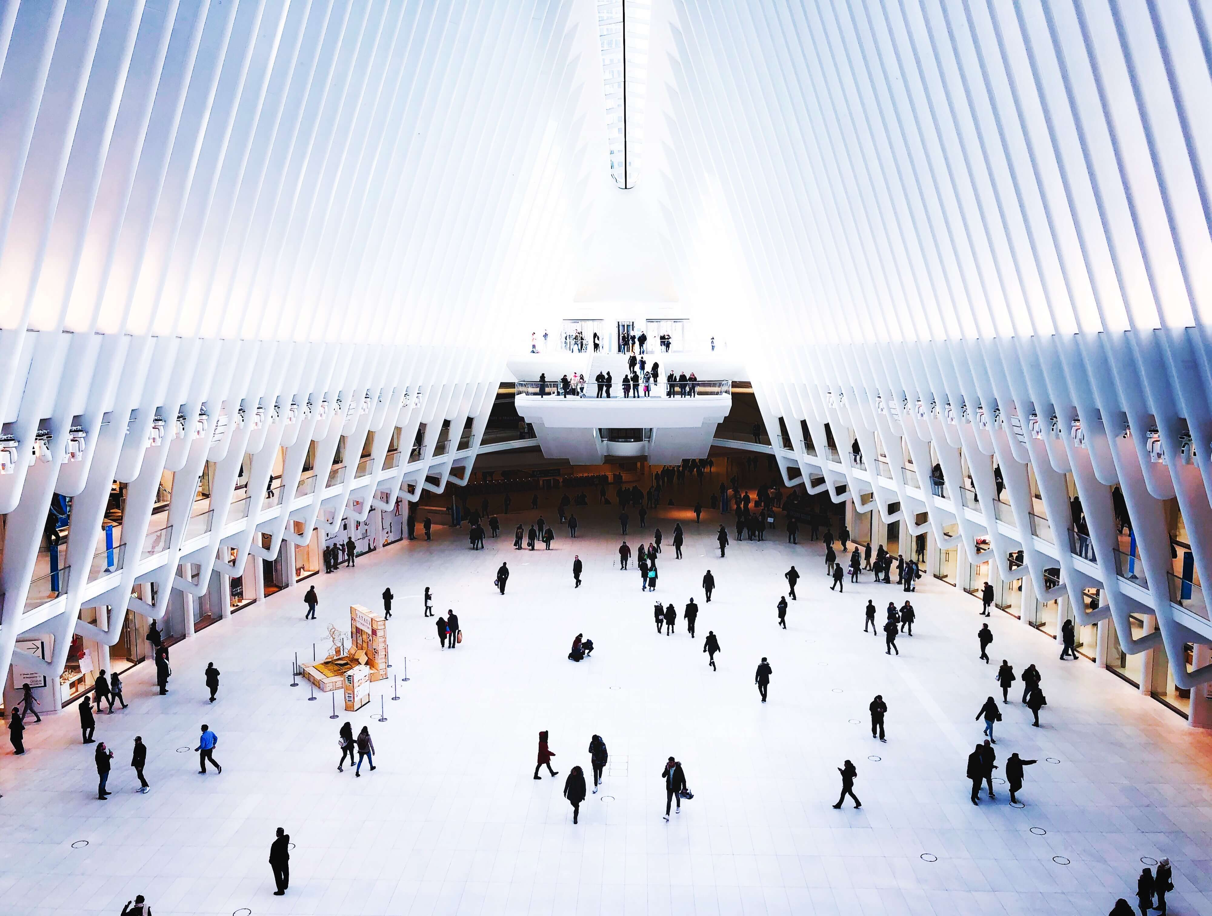 Inside of World Trade Center Transportation Hub, New York