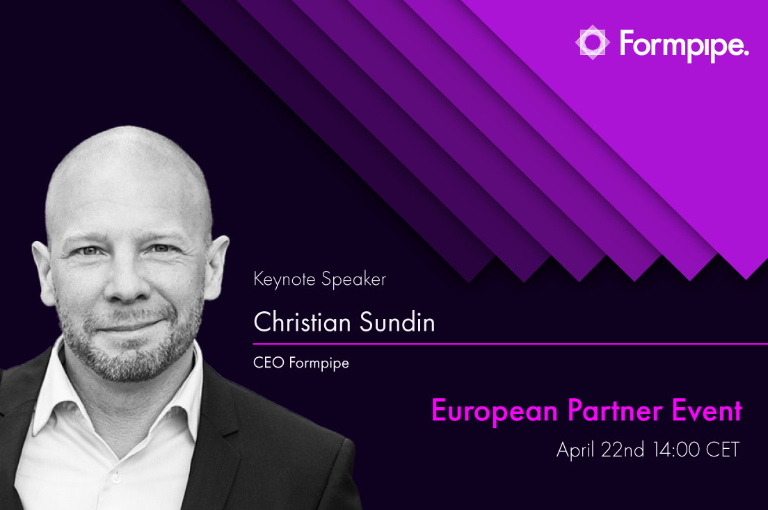 Formpipe European Partner Event - Christian Sundin, CEO Formpipe, Keynote speaker