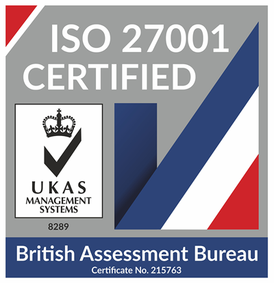 ISO 27001 Certified by British Assessment Bureau
